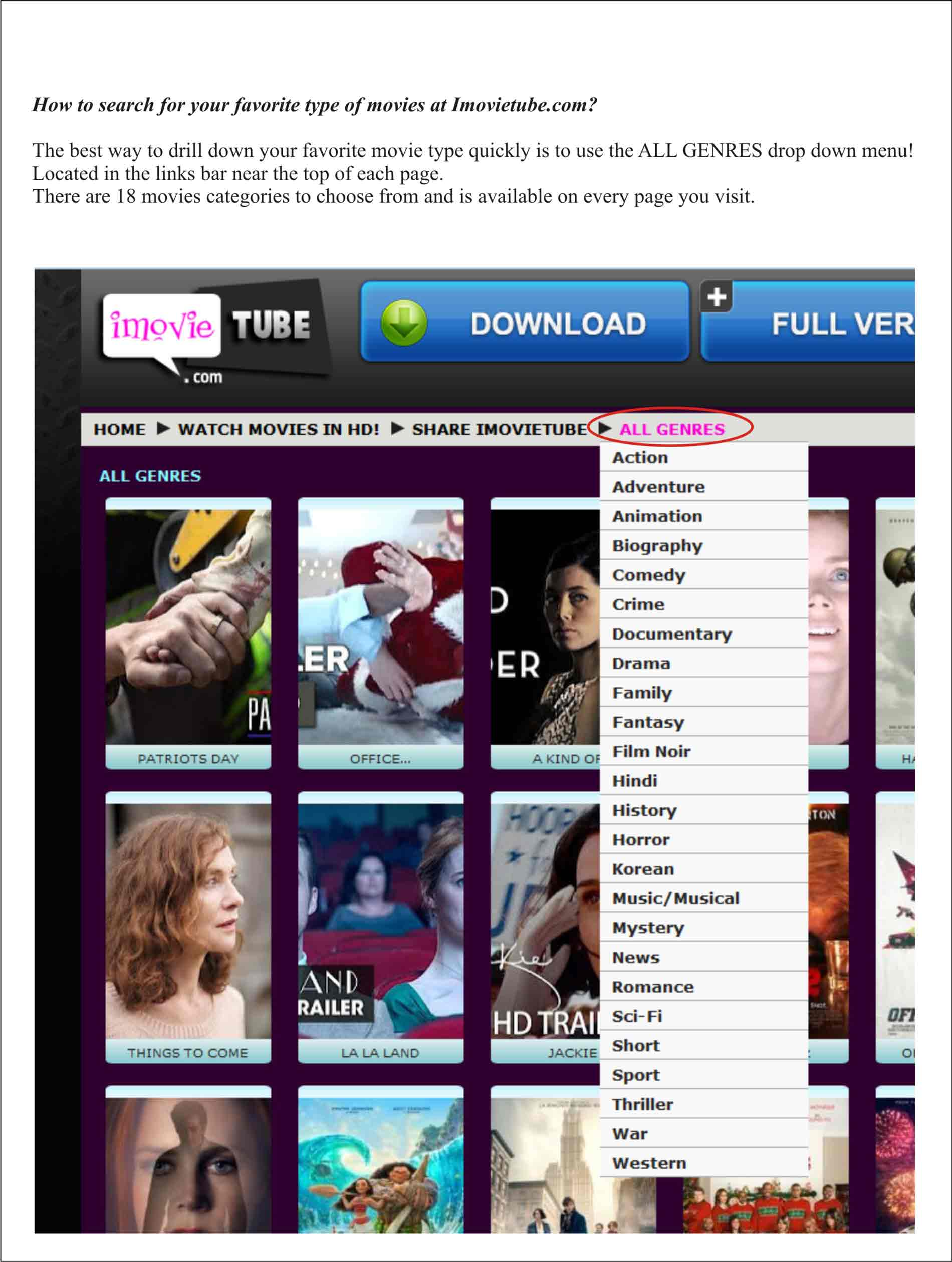 M movietube com